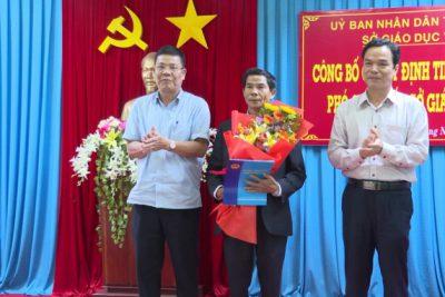 UBND tỉnh Quảng Ngãi trao Quyết định bổ nhiệm Phó Giám đốc Sở Giáo dục và Đào tạo